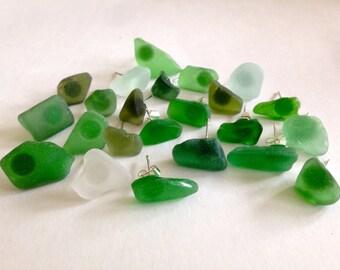 Sea Glass Studs