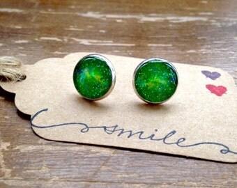 Emerald Mist post earrings