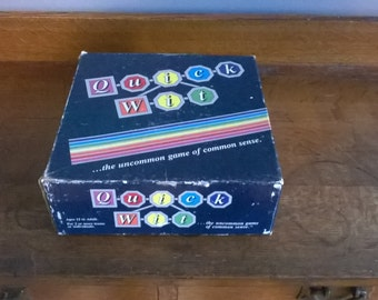 Vintage Quick Wit Board Game (1987)