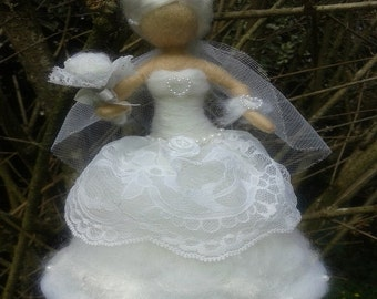 Needle felted inspired Waldorf Wedding