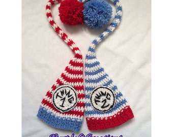 Thing 1 & Thing 2 Inspired Elf Hat Set / Photo Prop / Costume
