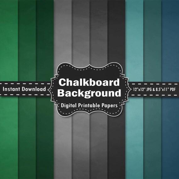 Chalkboard digital paper - Design Bundles