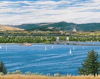 OKANAGAN SUMMER - Limited Edition Watercolor Print of Okanagan Valley Lake Scene