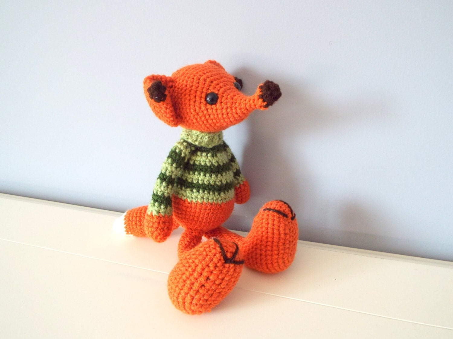 Handmade crochet fox toy Amigurumi Dolls Crochet animals ...