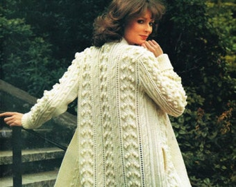 womens aran jacket knitting pattern 99p