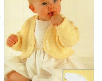 cardigans / boleros dk knitting pattern 99p pdf