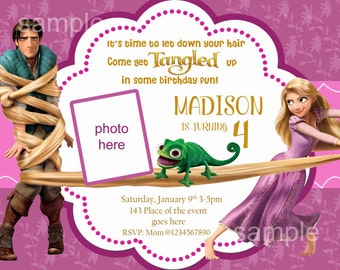 Tangled Birthday Invitations gangcraftnet