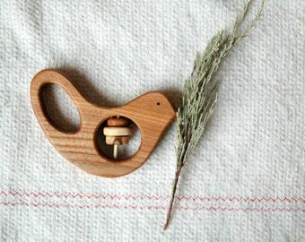 Baby Rattle  Bird/ Baby Shower Gift/ Bird Rattle/  Wooden Toy/ Wooden Toy Bird