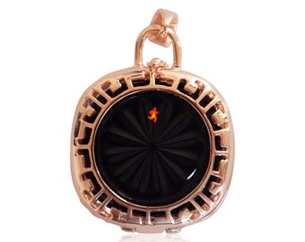 Pendant Mia - Jawbone Up Move jewelry - made from Silver - 18K ROSE GOLD plated