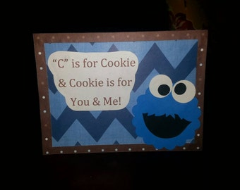 Cookie Monster Table Cards