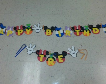 Mickey Mouse Clubhouse Birthday  Banner, I am 1 banner