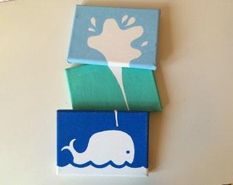 Whale Canvas Set