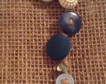 Hemp & Button Bracelet