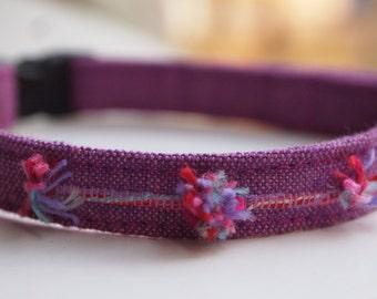 Purple Breakway Cat Collar