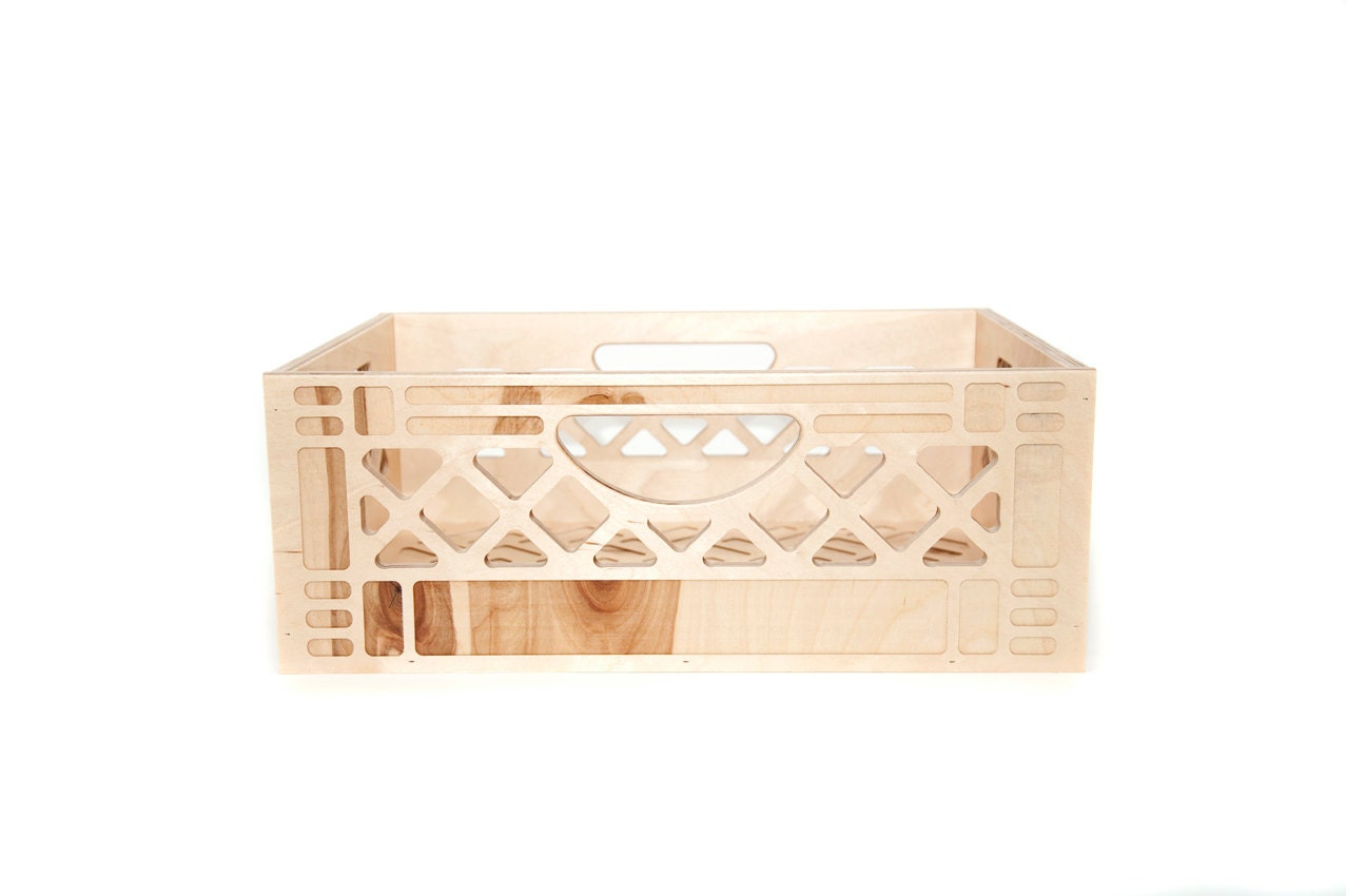 vintage inspired milk crate wooden milk crate. Black Bedroom Furniture Sets. Home Design Ideas