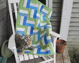 Baby Boy Blue Baby Quilt