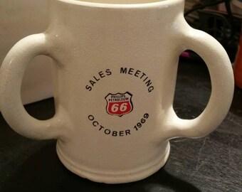 Phillips Petroleum 66 Three Handle Mug