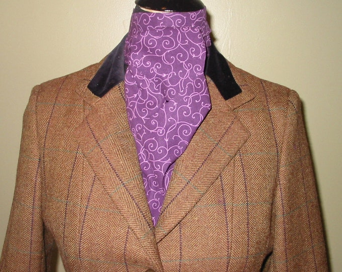 Purple Swirl Stock Tie