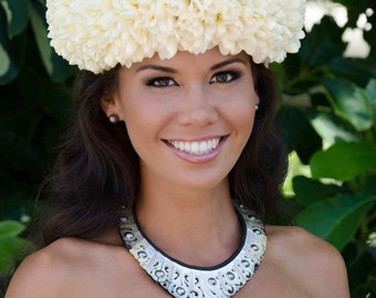 Fresh Flower Head Piece (hawaii only