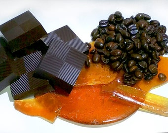 Coffee & Crushed Caramel Brittles made with fine Belgian 70% Dark Chocolate