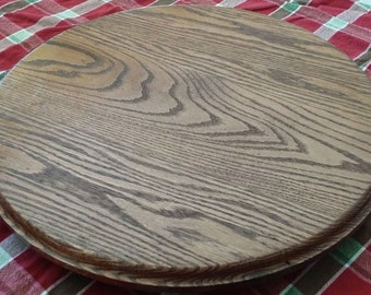 L and L Farms and Crafts LLC Solid Oak Condiment Turntable (Lazy Susan)