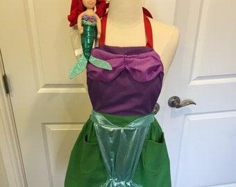 Ariel Disney Princess Apron with Ariel Plush doll