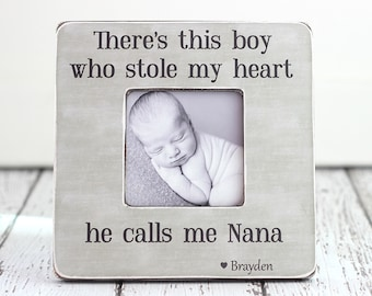 Grandma Grandmother Nana Nanny Gift Mother's Day Gift Personalized Picture Frame 'This Boy Who Stole My Heart'
