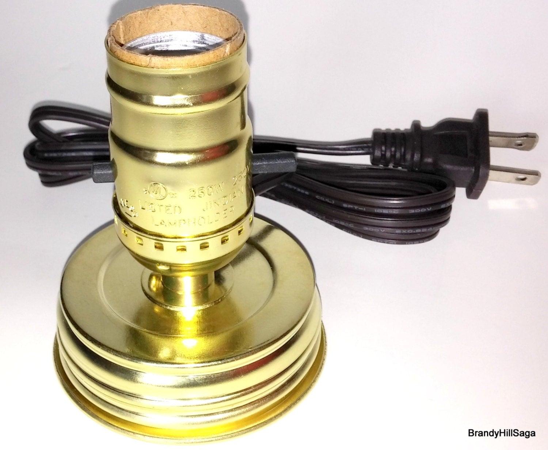 Mason Jar Lamp Light Adapter Kit Standard By Brandyhillcottage