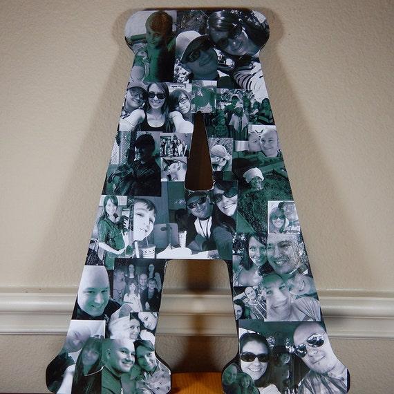 custom photo collage letter letter photo collage custom