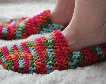 "Crochet ""Oma"" Slippers"