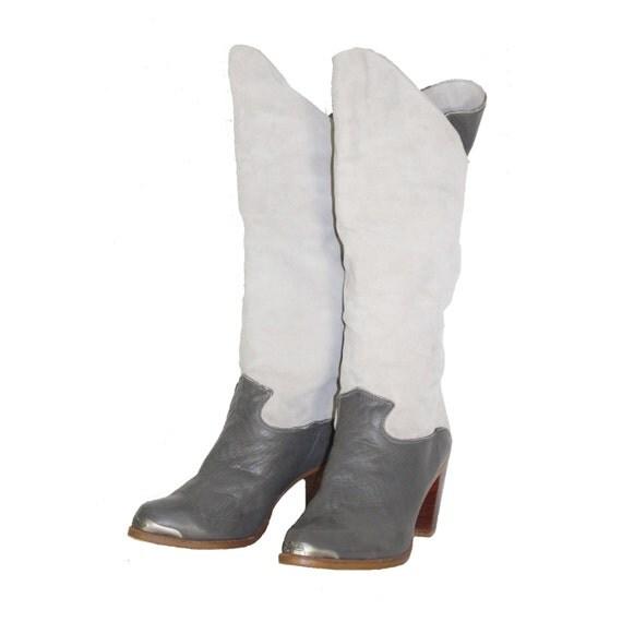 grey suede zodiac cowboy boots