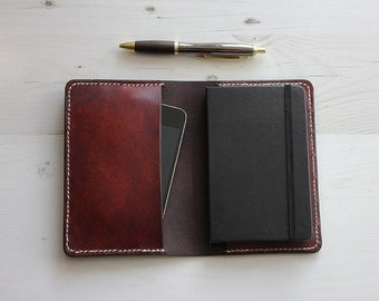 Brown Leather Pocket Notebook Cover