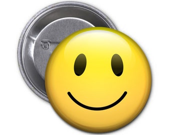 Smiley Face-- 2.25 Pin Back Button or Magnet