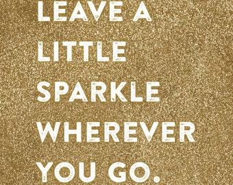 Leave a Little Sparkle Wall Art