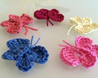 Crochet butterfly pattern, applique, decoration, accessories pdf