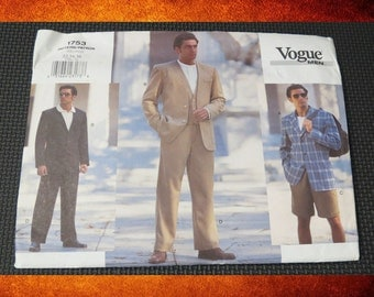 BIG SALE Sewing Pattern -  Vogue Men 1753 Suit. Sizes 32-34-36. #PAT-010