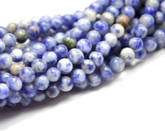 4mm Round Sodalite Gemstone Beads, 15.5 inch (90) Full strand