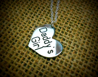 Daddy's Girl    Charm Necklace - Heart Pendant
