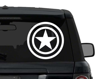 Captain America decal sticker for car truck laptop ANY COLOR die cut vinyl