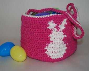 Cute Crochet Easter Bunny Basket