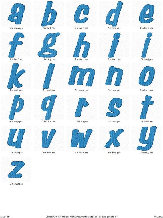 Card game machine embroidery monogram font alphabet design