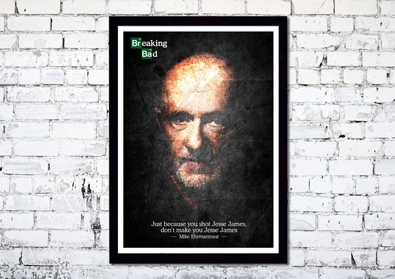 Breaking Bad // Better Call Saul // Mike Ehrmantraut // Unique A4 / A3 Art Print