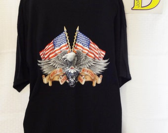 American Eagle and Flags Shirt