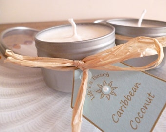 Soy Wax Candle Tin with Clear Lid