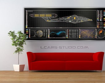 Star Trek Schematic LCARS Enterprise NX-01 Large Print