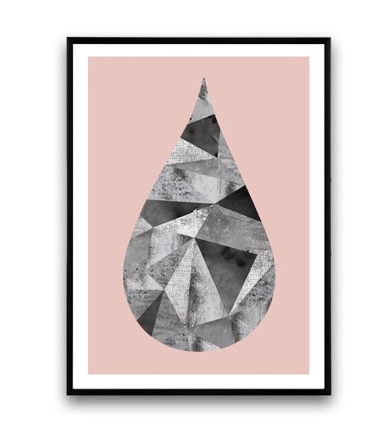 art scandinave d 39 impression minimaliste aquarelle art par wallzilla. Black Bedroom Furniture Sets. Home Design Ideas