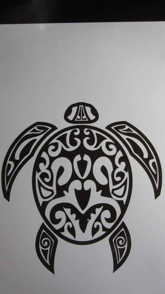 TRIBAL SEA TURTLE Vinyl Decal / Sticker Available in 24
