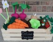 Garden Playset, Felt Garden, Montessori Toy, Deluxe Garden, Eco-friendly, Felt Food, Educational, Play Food, Pretend, Pretend Food, Prop