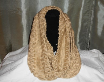 Hand-Knit Extra Long Cowl--Double or Triple length
