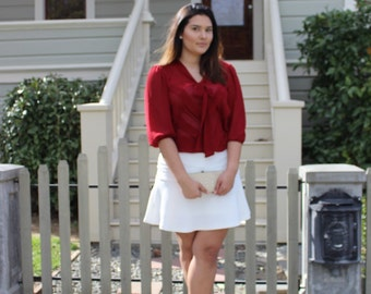 Ruby Red Blouse/ Large